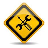 Vector repair shop icon