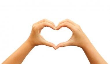 Heart shaped hands stock vector