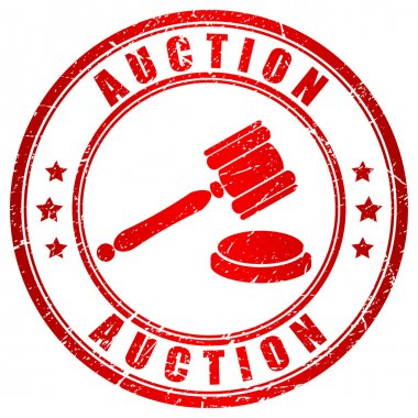 Auction red stamp