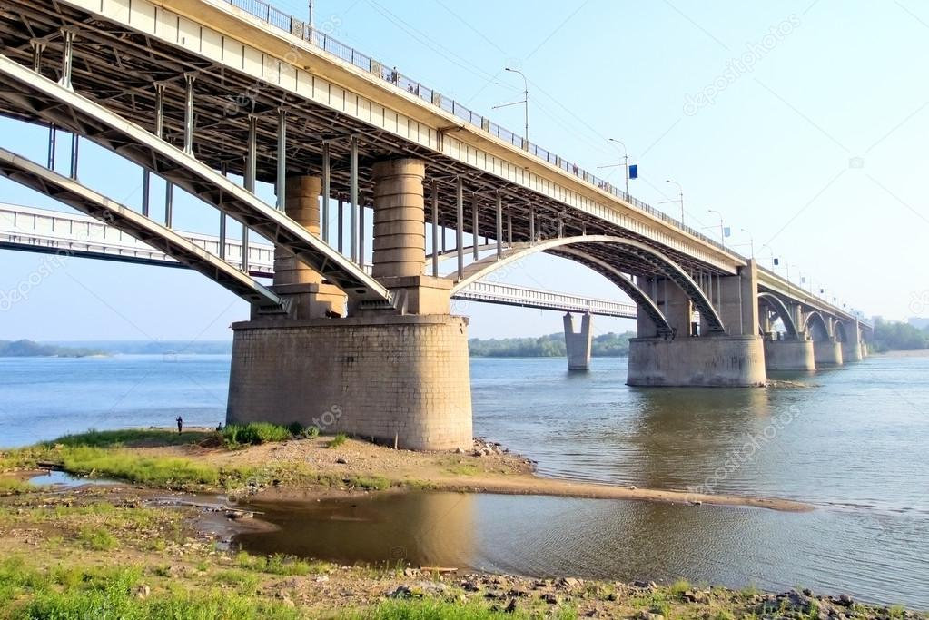 Bridge in city Novosibirsk