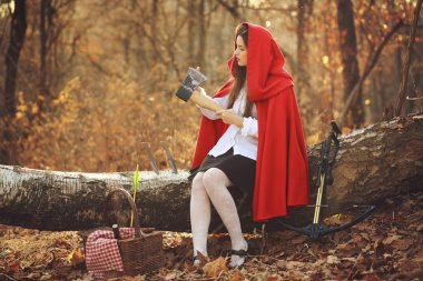 Little red riding hood and her axe