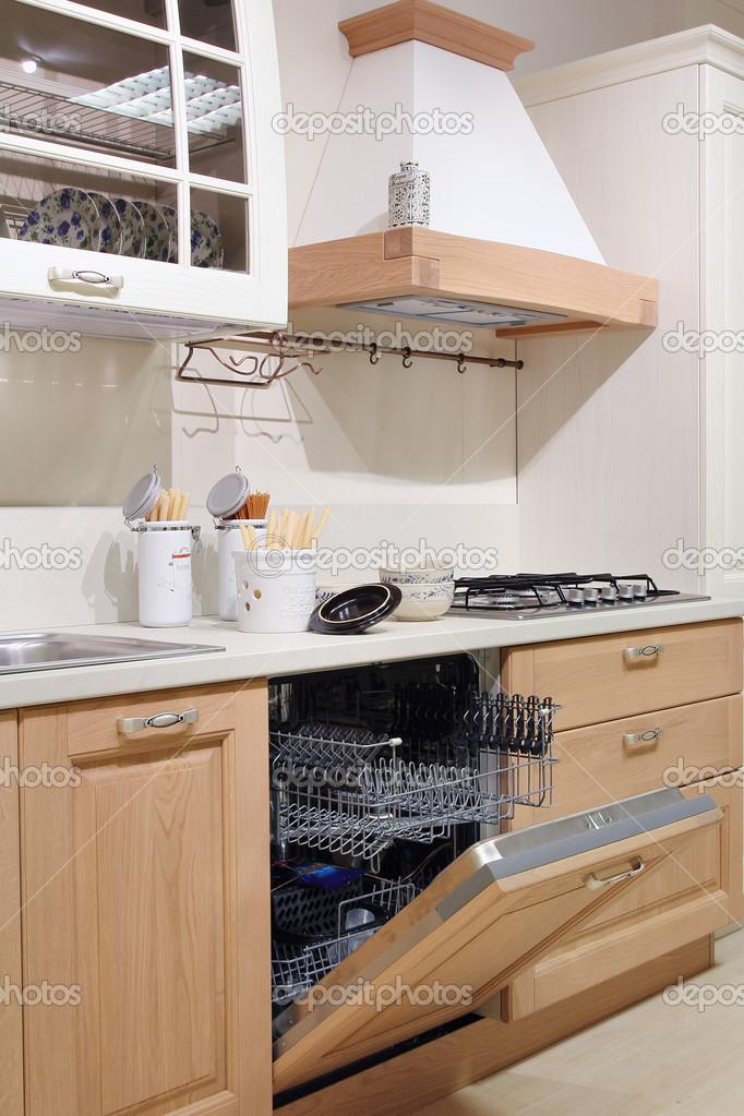 dettaglio della cucina di campagna stile bianco — Foto Stock ...