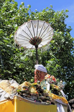 Temple Offerings and Umbrella, Bali