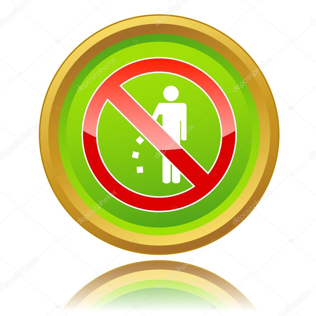 No Littering Sign Stock Vector Ylivdesign 42280967