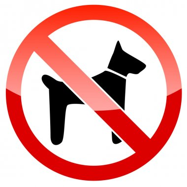 No dogs sign vector