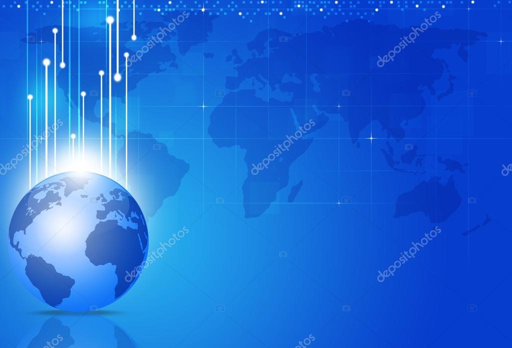 Plano De Fundo Azul De Neg Cios Globais Fotografias De Stock
