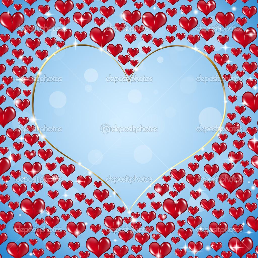 Anello d 39 oro forma cuore con tanti cuori rossi intorno for Immagini di cuori rossi