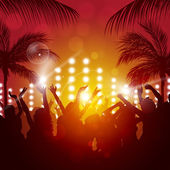 Fotografie tropické večerní party