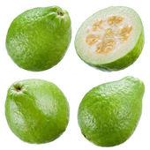 guava izolovaných na bílém pozadí. kolekce