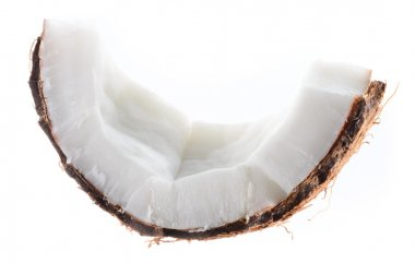 Coconut. Fruit piece isolated on white background