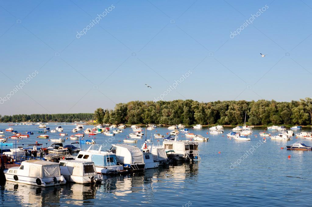 Boats on Danube river