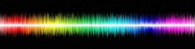 Rainbow sound wawe on black background stock vector