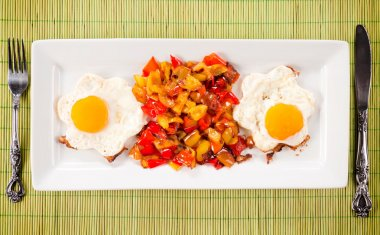 Eggs and pepper