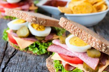Big toast sandwich