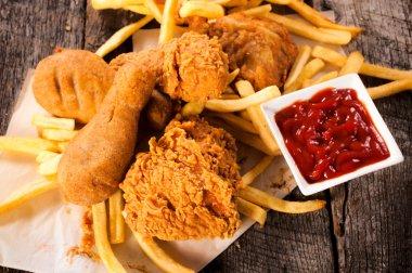 Chicken legs fried