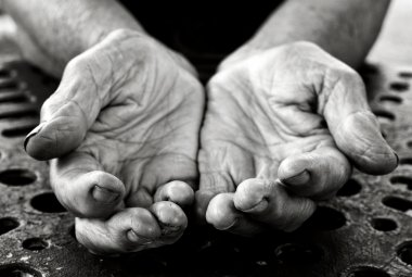 Old lady hands