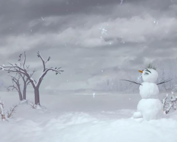 sněhulák pozadí oblohy