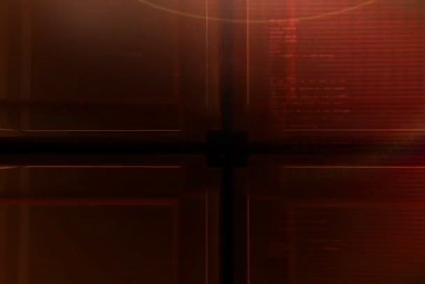 červená kostka s ntsc pozadí textu
