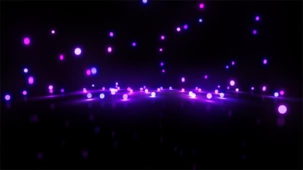 Stuiterbal Met Licht : Paars licht stuiterballen breed u stockvideo realcg