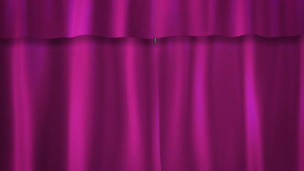 fialové závěsy přechod