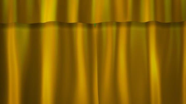 gouden gordijnen stockvideo