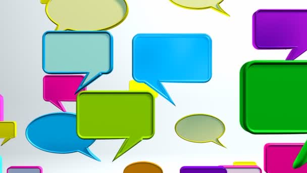 Bunte Gesprächssymbole
