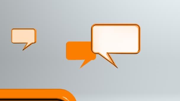 Orangefarbene Gesprächssymbole