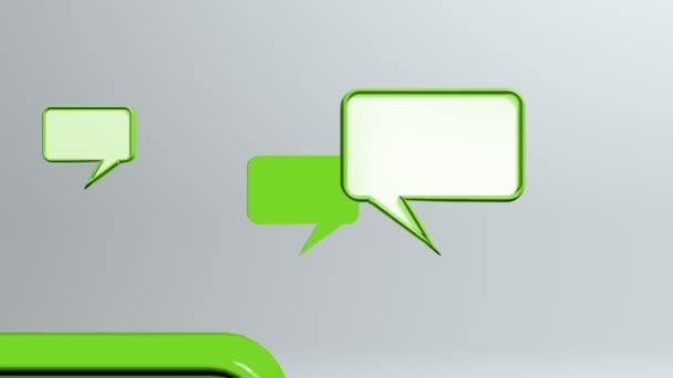 zelené konverzace ikony