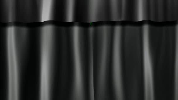 donkere gordijnen stockvideo