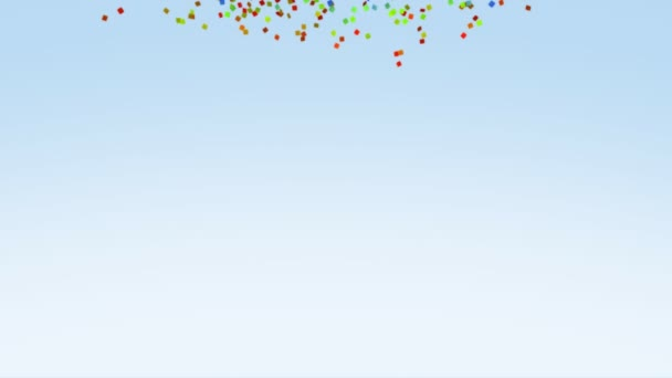 Color Paper Confetti Falling loop