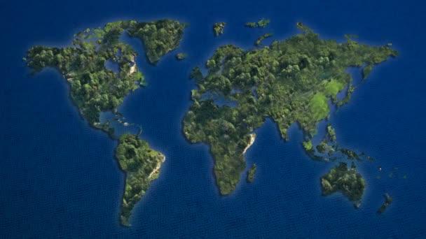 Világ Térkép-val mély kék óceán