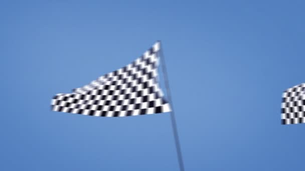 Checkered flag track cam at left side