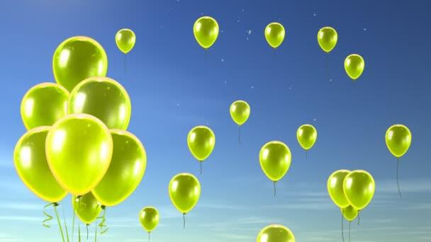 žlutá bublina do modré oblohy