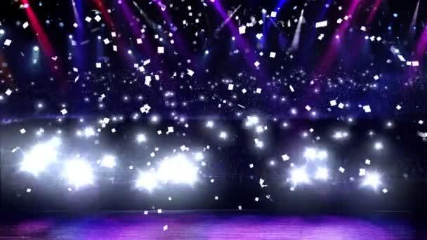 coriandoli e luce di concerto