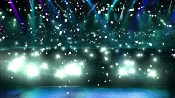 koncert modré světlo konfety