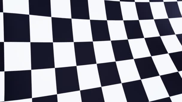 karierte Flagge nah am blauen Himmel