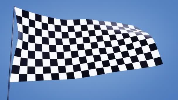 karierte Flagge blauer Himmel