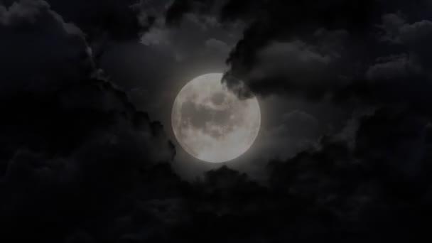 tmavé velké měsíc a hrom