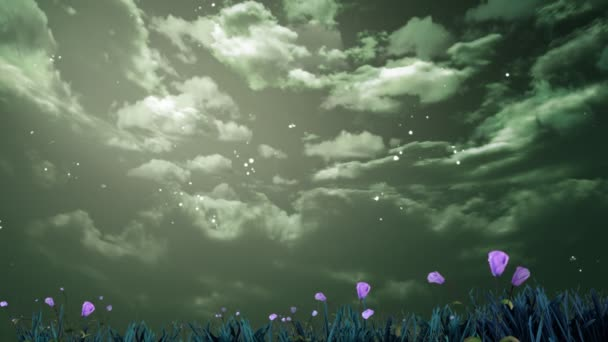 Night sky with flowers