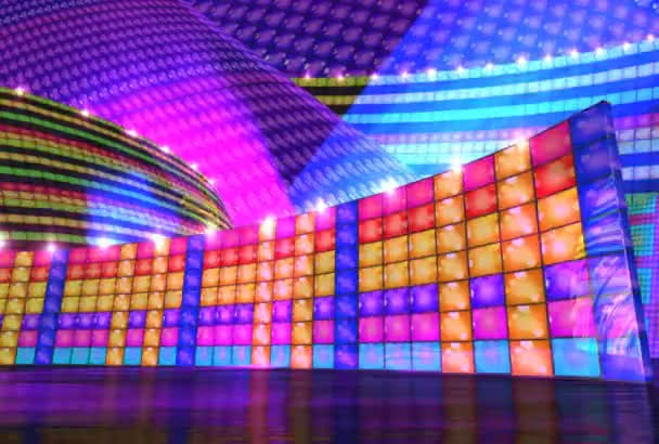 Disco stage virtual set background repeat loap