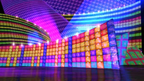 Disco stage with glow flare virtual set background