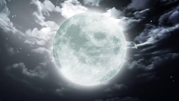 velké halloween měsíc tmavá obloha
