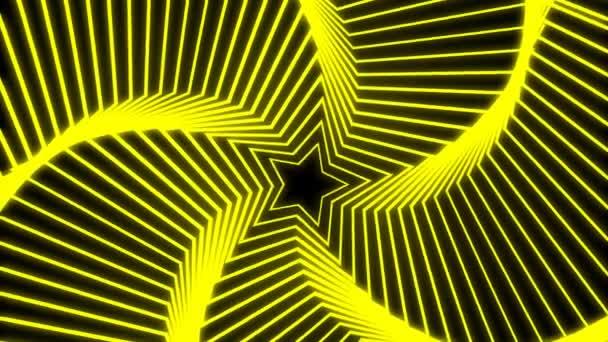 Csillagos sugárzás sárga