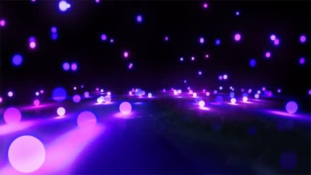 purple light balls falling