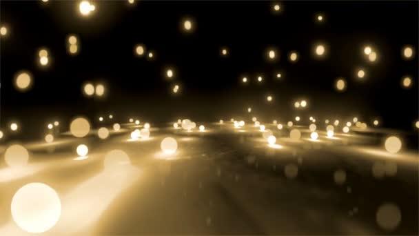 sfere di luce riso bianco cadendo