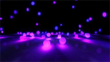 purple Bouncing light balls