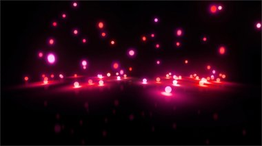 magenta Bouncing light balls wide