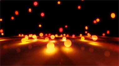 orange Bouncing light balls