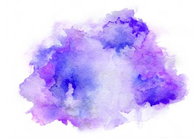 purple watercolor drawing ink