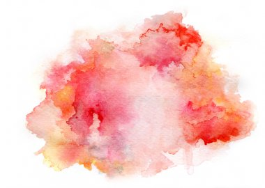 red watercolor drawing ink